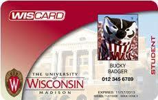 University of Wisconsin student ID card