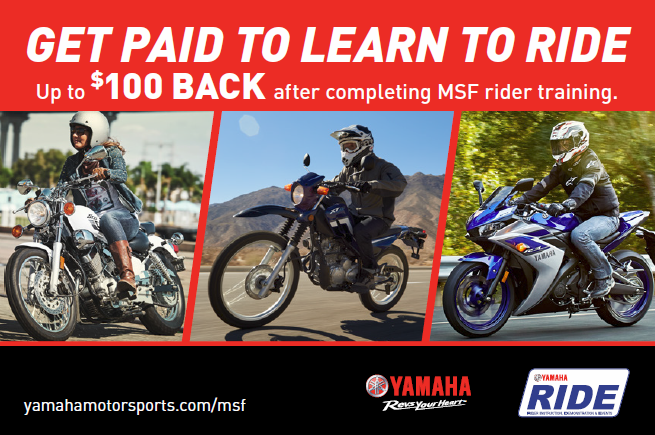 Get Paid to Learn to Ride with Yamaha